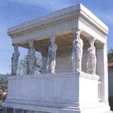 Karyes, replica of Karyatides of Erechtheion of Athens