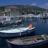 Kastos port - every inhabitant of the island has a boat