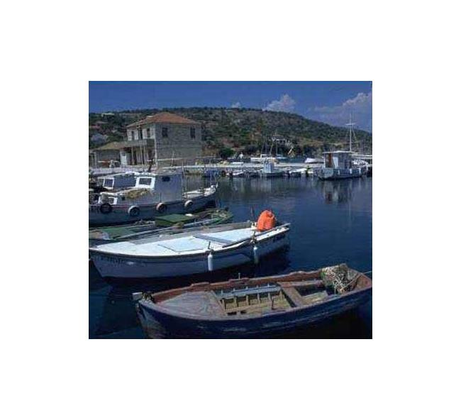 Kastos port - every inhabitant of the island has a boat KASTOS (Village) IONIAN ISLANDS