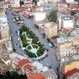 Aerial photo of Sidirokastro square, Serres