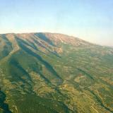 Aerial photo of Menikio mountain, Serres