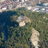 Byzantine Acropolis of Serres, an aerial photo of Koulas hill where it is built