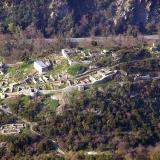 Aerial photo of a fortress at Rentina