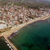 Aerial photo of Nea Kallikrateia, Chalkidiki