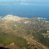 Aerial photo of Ammouliani, Chalkidiki