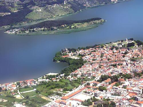 Arial photo of the island at Ioannina NISSI (Island) IOANNINA