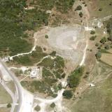 Aerial photo of the ancient theatre at Dodoni
