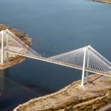 Aerial photo of the new bridge in Chalkida