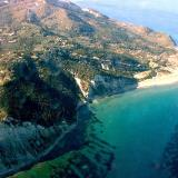 Aerial photo of Erikoussa island, Kerkyra