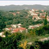 Agios Mattheos, view to village and to green hill
