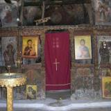 The iconostasis (templo) of Agios Ioannis church of the old monastery