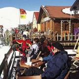 The cafe of the ski centre