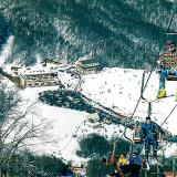 A panoramic view of the ski centre from the lifts