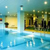 The ski centre's heated swimming pool