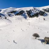 Kalavryta ski centre and Saint Yakinthos church