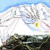 A map of the ski centre