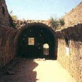 Moni Arkadiou, the 'lagoumi' (gun-powder chamber) which Giamboudakis blew up in 1866, during the Cretan Revolution
