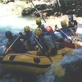 Atsicholos, rafting, coming over the river