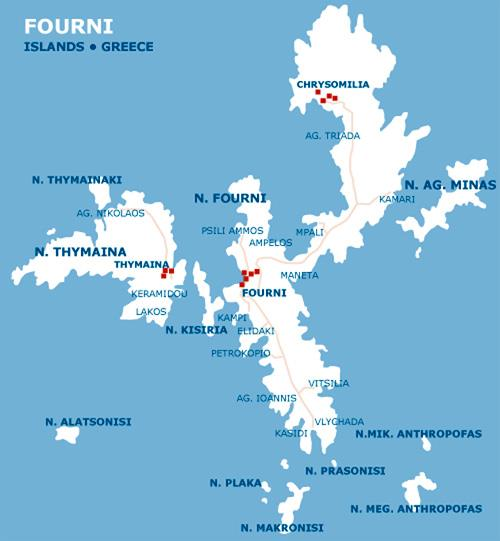 Fourni map FOURNI (Port) NORTH AEGEAN