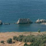 Lygia, at Artolithia beach there was one of the ancient ports named Ortholithia (e.g. standing stones)