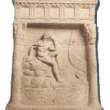 Marble sepulchral stele (2nd-3rd cent. A.D.)