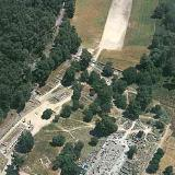 Ancient Olympia, aerial view of the archaeological site