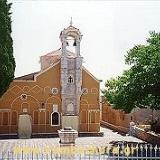 Agios Georgios church, a replica of Nea Moni, is octagonal & has a cupola