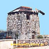 Agios Georgios Sykoussa, 2 stone windmills have been preserved