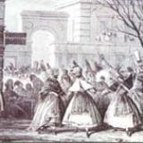 Kerkyra, carnival in Spianada in 19th century