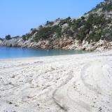 A sandy beach in the Municipality of Kymi area