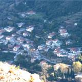 A view of a village on Parnonas
