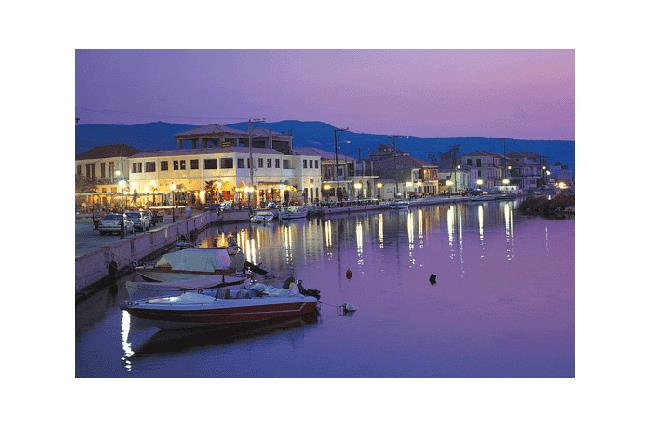 A night view of Lefkada capital town LEFKADA (Town) IONIAN ISLANDS
