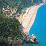 The Kathisma sandy seaside, near Agios Nikitas coastal settlement, is one of the most beautiful seasides of the Ionian Sea