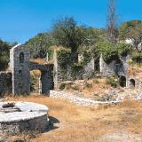 The Monastery of Assomati at Vafkeri - nowadays only ruins of the facilities remain