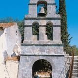 Lazarata, Agios Spyridon church bell-tower, that was firstly built in the middle of the 18th c.