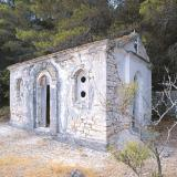 The private church of Agios Donatos is built at Agios Konstantinos small beach