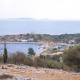 Kastos, the village of the island is built amphitheatrically around the port
