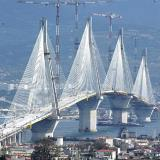 A view of Rio-Antirio bridge that has brought a new era to transportation in Western Greece