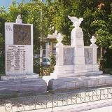 Klitoria, a war memorial established in the central square of the village