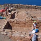 Kythnos/Messaria, Vryokastro - two rectangular constructions are preserved