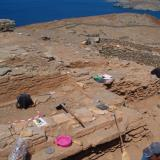 Kythnos/Messaria, Vryokastro - the town was built on the flat land of a ridge