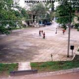 Rachoula, the village square