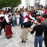 A 'Kounies' (swings) traditional custom at a fair in Kythnos