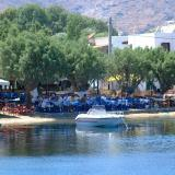Livadi has been developed into a popular mooring place of the Cyclades
