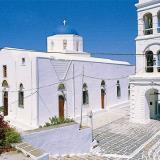 Adamas, the church of Agios Charalambos or of the Dormition of the Virgin (Koimesis Theotokou), with distinctive architecture, is the largest in village & stands at the highest point