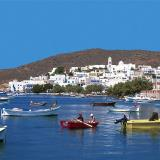 Adamas, a picturesque view of the port and the village