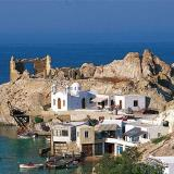 Fyropotamos, a coastal settlement on the northern part of Milos