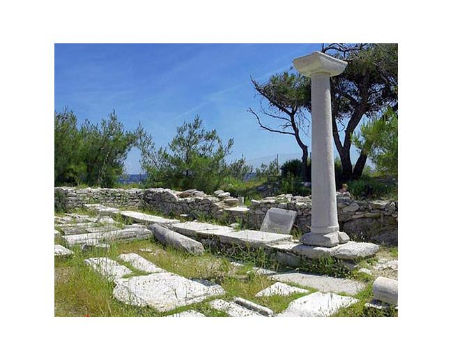 Alyki - a worship place in byzantine era, when the material of the ancient temple was used for building the basilicas ALYKI (Settlement) THASSOS