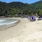 Skala Potamias, an organised beach that attracts thousands of tourists & wind surfers yearly
