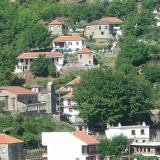 Melissourgi, houses of the village and the old church of Panagia on the left